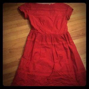 Madewell Red Pin Up Rockabilly Dress